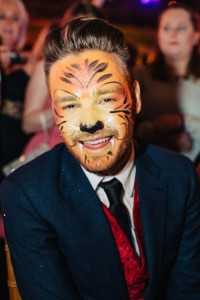 Liam face painted